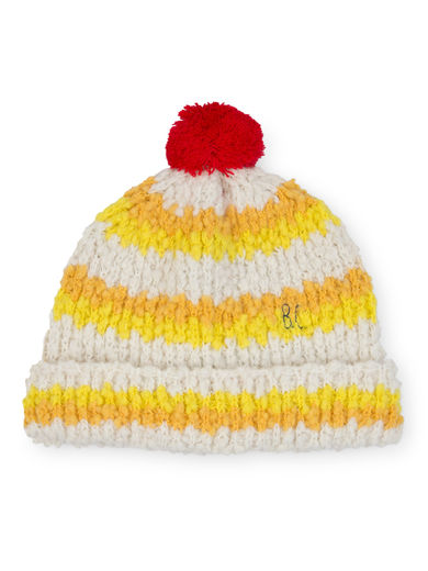 Bobo Choses - Yellow Stripes Beanie, Baby