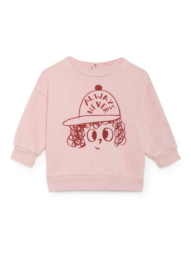Bobo Choses - Always Never Round Neck Sweatshirt, Mellow Rose