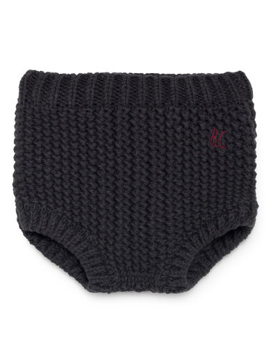 Bobo Choses - Black Knitted Culotte, Multicolour
