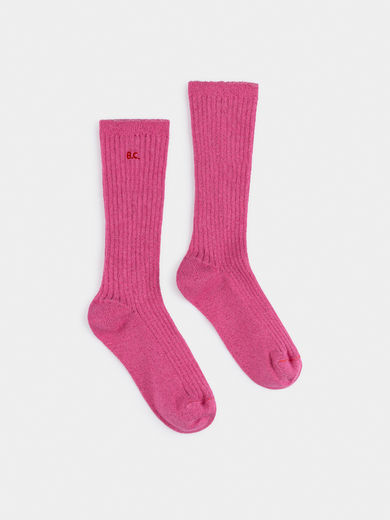 Bobo Choses - BC Pink Lurex Socks ( 219307)