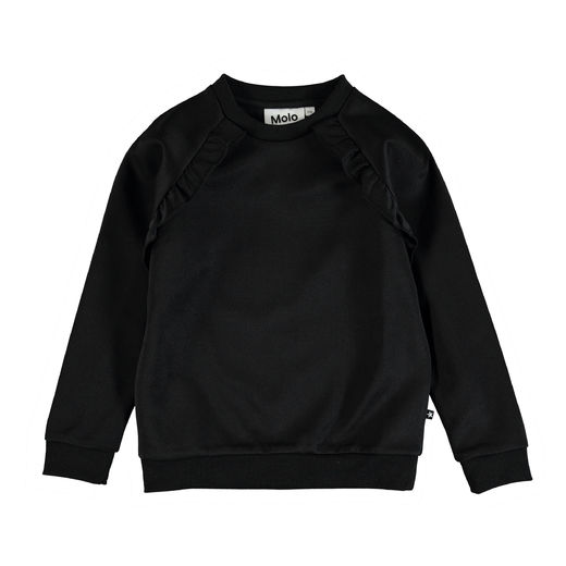 Molo Kids - Michaela Girls Sweatshirt, Black