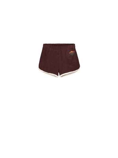Mainio - Crew terry shorts, Raisin (50009)