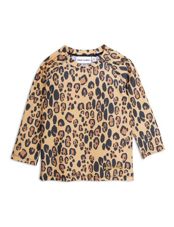 Mini Rodini - Leopard uv top, beige