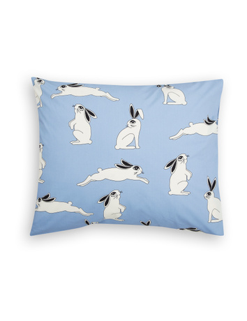 Mini Rodini - Rabbit pillowcase, light blue
