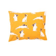Mini Rodini - Rabbit pillowcase, yellow