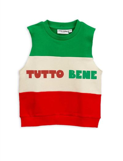 Mini Rodini - Tutto bene ss sweatshirt, Red