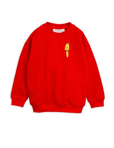 Mini Rodini - Parrot emb sweatshirt, Red