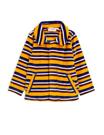 Mini Rodini - Velour stripe jacket, Yellow