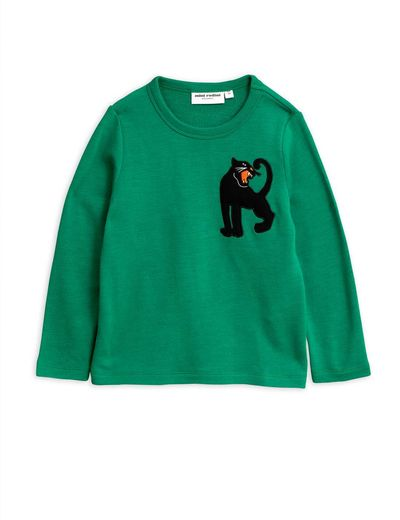 Mini Rodini - Panther wool terry sweatshirt, Green