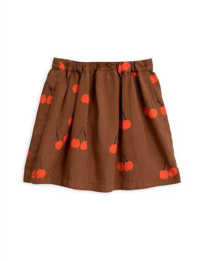 Mini Rodini - Cherry woven skirt, Brown