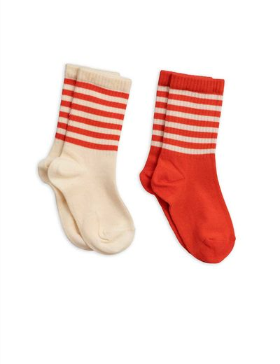 Mini Rodini - 2-pack socks, Red