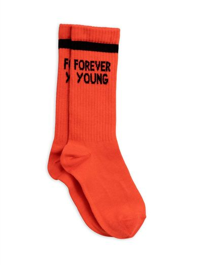 Mini Rodini - Forever young sock, red