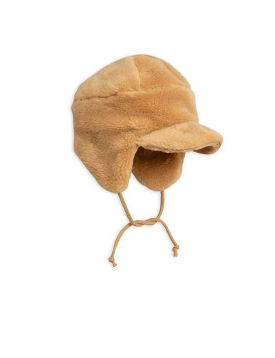 Mini Rodini - Faux fur cap, Beige