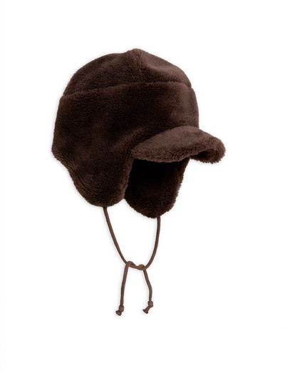 Mini Rodini - Faux fur cap, Brown