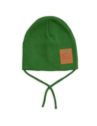 Mini Rodini - Panda hat, Green