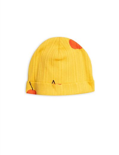 Mini Rodini - Cherry baby beanie, yellow