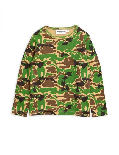 Mini Rodini - Camo ls tee, green