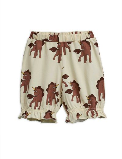 Mini Rodini - Unicorns aop bloomers, Offwhite
