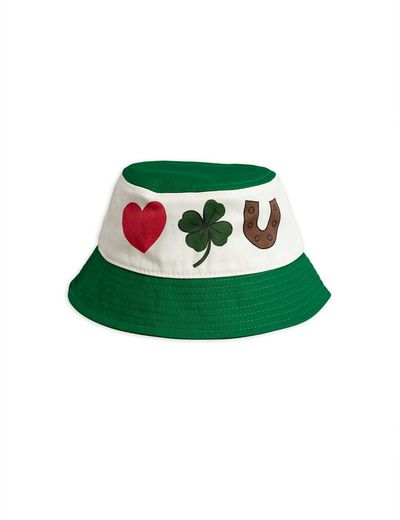 Mini Rodini - Clover bucket hat, Green