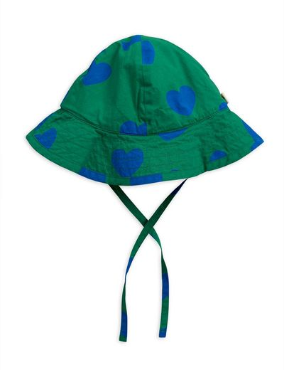 Mini Rodini - Hearts sun hat, Green