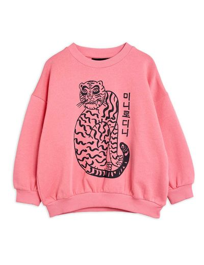 Mini Rodini - Tiger sp sweatshirt, Pink