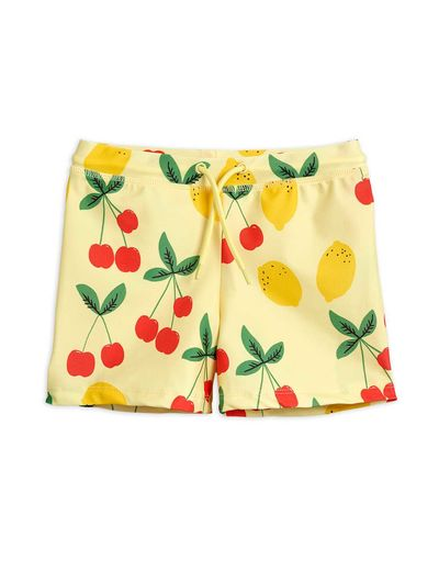 Mini Rodini - Cherry lemonade swim pants UPF 50+, Yellow