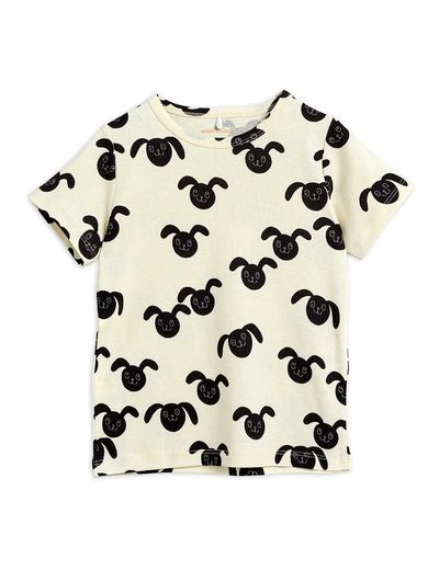 Mini Rodini - Rabbits aop ss tee, Black