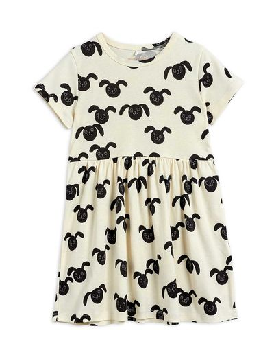 Mini Rodini - Rabbits aop ss dress, Black