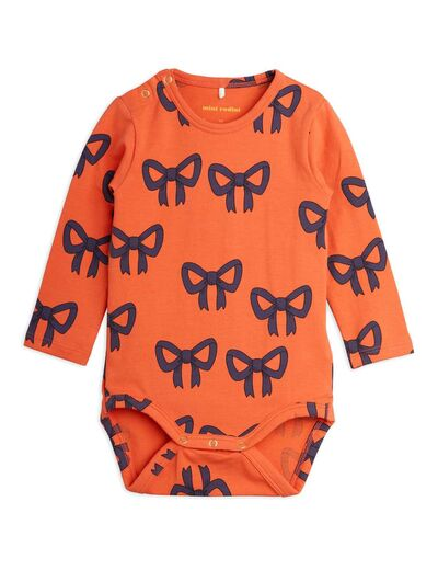 Mini Rodini - Bow aop ls body, Red