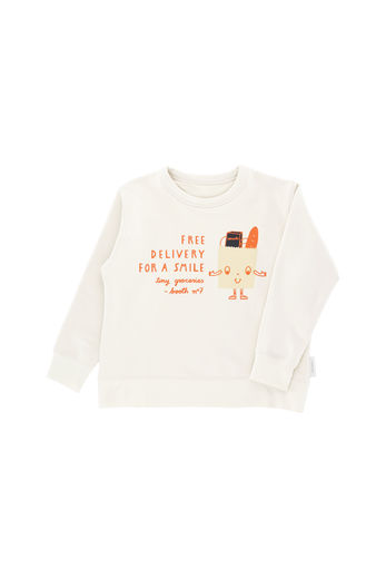 Tinycottons - Free delivery graphic sweatshirt, beige