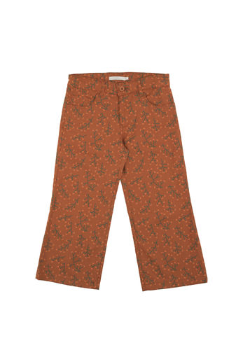 "Tinycottons - ""Cranberries"" wv pant brick/dark green/red"