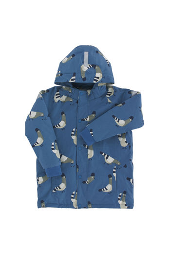 "Tinycottons - ""pigeons"" snow jacket, light navy / light grey*"