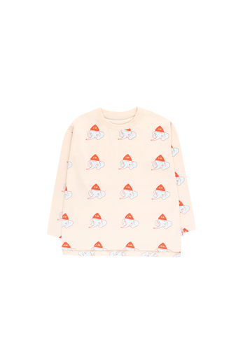 Tinycottons - LUCKYPHANT LS TEE, light cream / light mint