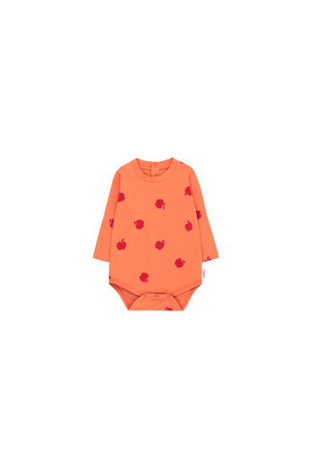 Tinycottons - APPLES LS BODY, coral / burgundy