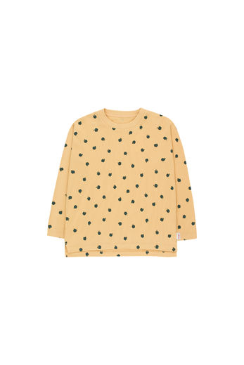 Tinycottons - SMALL APPLES TEE, sand/bottle green
