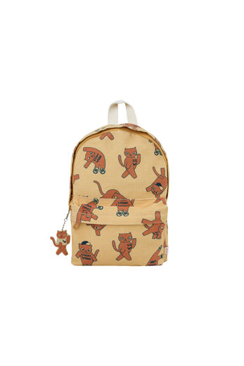 "Tinycottons - ""CATS"" BACKPACK *sand/brown*"