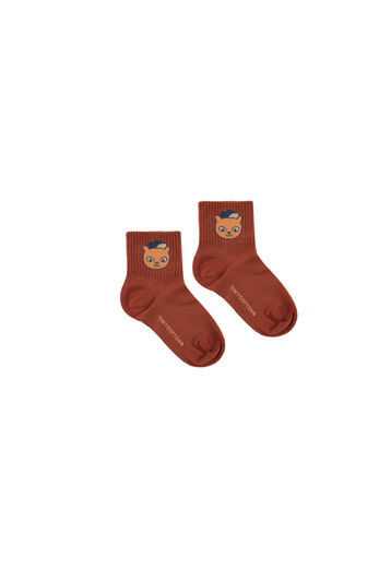 Tinycottons - CAT MEDIUM SOCKS, dark brown / brown