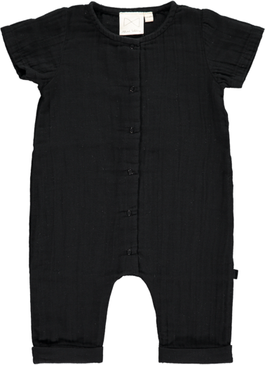Mini Sibling - Jumpsuit, Black Plain