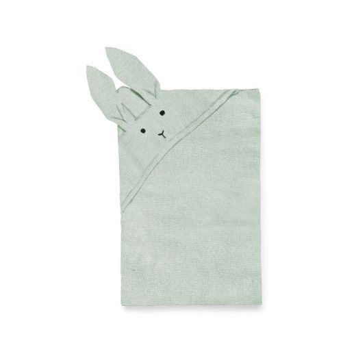 Liewood - Willie knit blanket rabbit, dusty mint