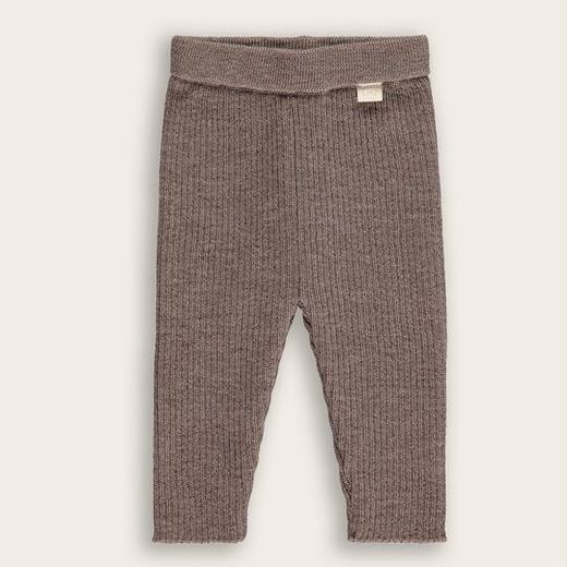 Mini Sibling - Baby Long Pants, Mocha Plain