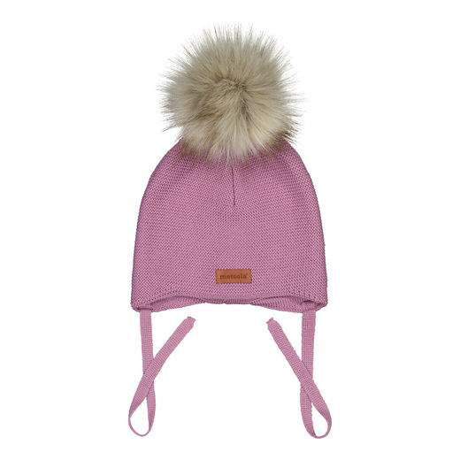 METSOLA - Baby beanie FUR, Blueberry milk