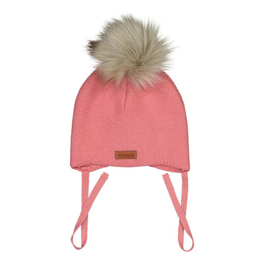 METSOLA - Baby beanie FUR, Strawberry ice