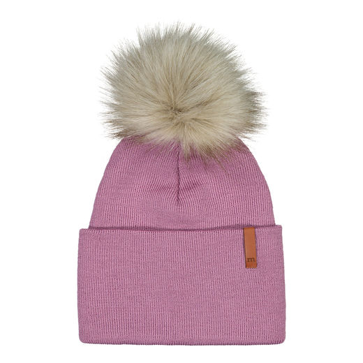 METSOLA - Folded beanie Fur, Blueberry milk