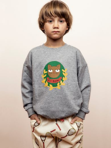 Mini Rodini - Badge SP sweatshirt, Grey melange