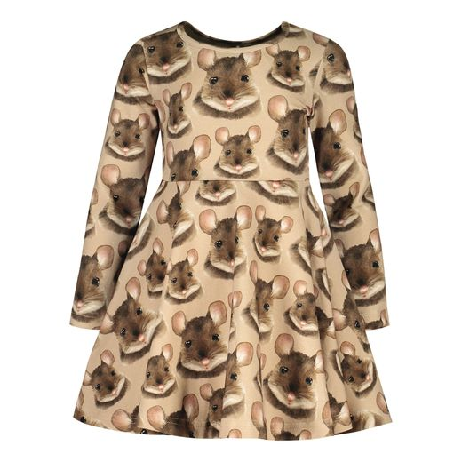 Metsola - Mouse Dress LS, smoke grey