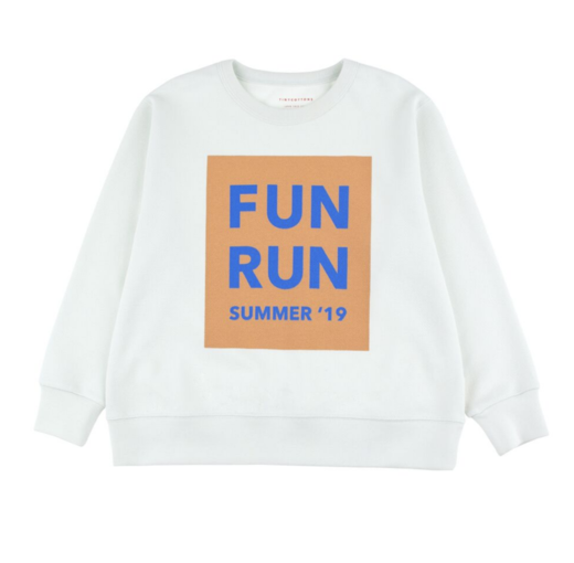 Tinycottons - FUN RUN SWEATSHIRT - Light mint / Camel