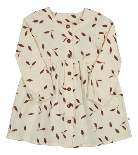 Kaiko - Wind Button Dress Ls, Sand