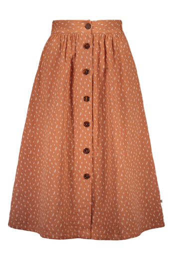 Kaiko - Women / Button Skirt, Vintage Leaf Tawny