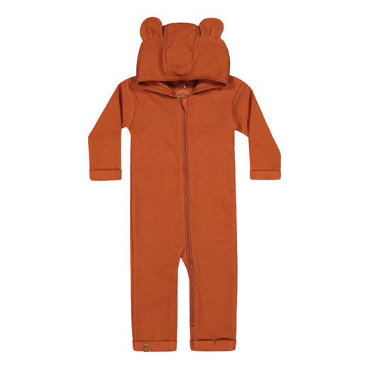 METSOLA - RIB Bear Playsuit, Roasted Pecan