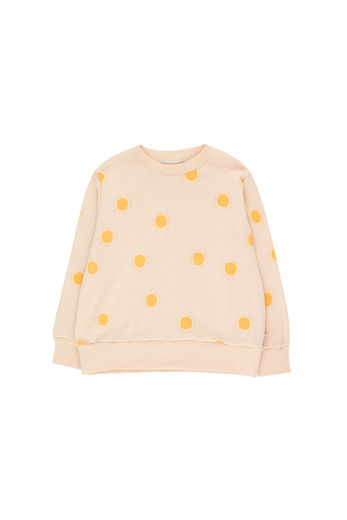 Tinycottons - SUN SWEATSHIRT, light cream/yellow